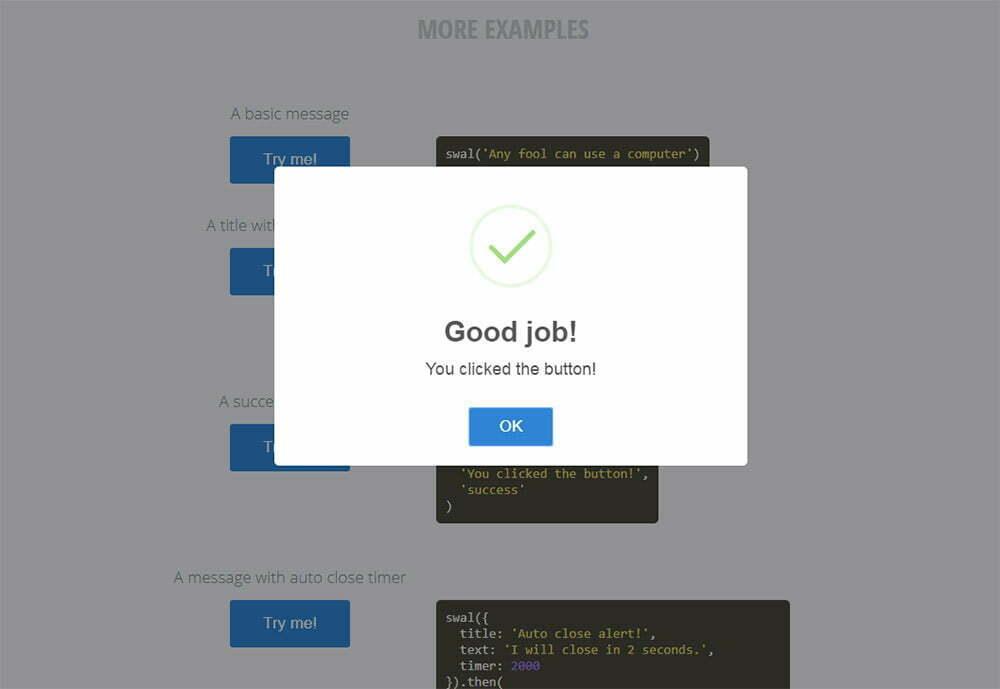 JavaScript Alert Kutularını Bu Duyarlı Alternatifle Değiştirin