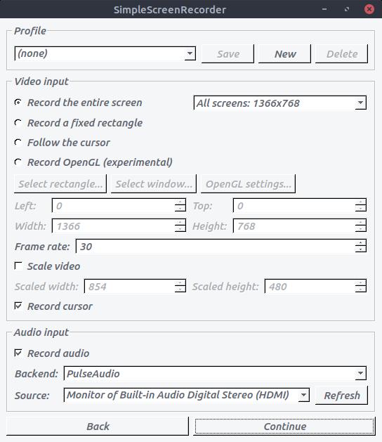 SimpleScreenRecorder